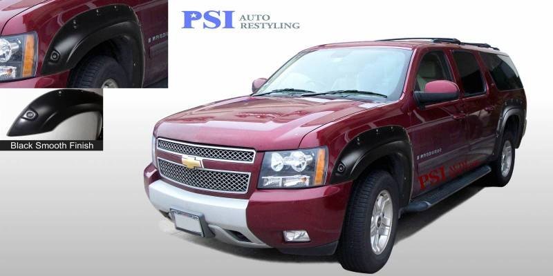 2009 Chevrolet Suburban Pop Out Style Smooth Fender Flares