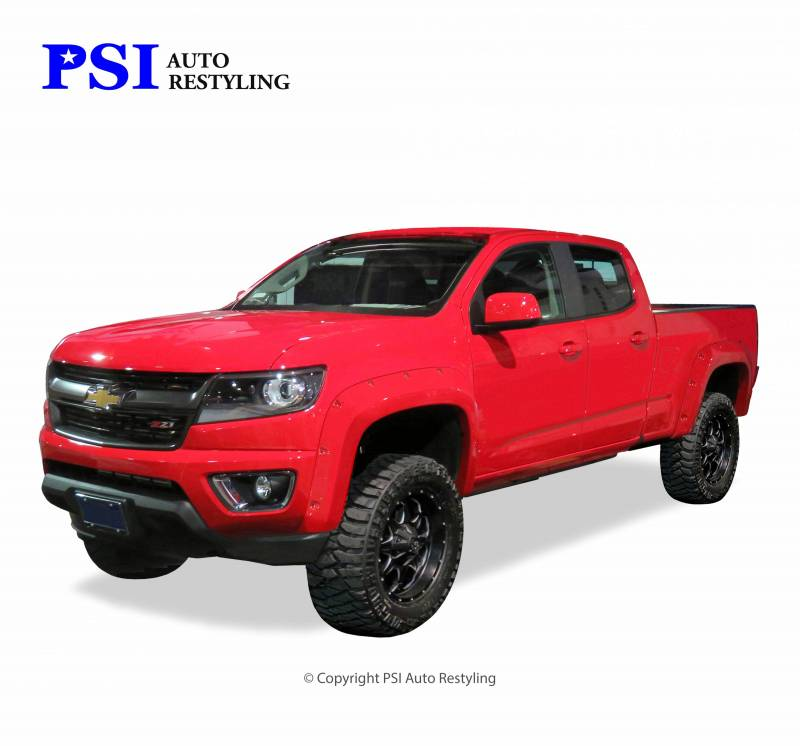2015 Chevrolet Colorado Pocket Rivet Style Smooth Fender Flares