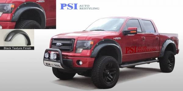 PSI - 2012 Ford F-150 Cut Round Style Textured Fender Flares