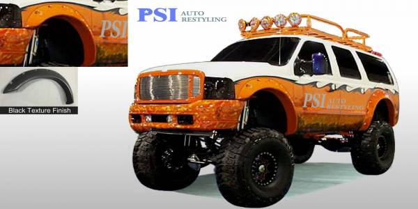 PSI - 2001 Ford F-350 Super Duty Cut Round Style Textured Fender Flares