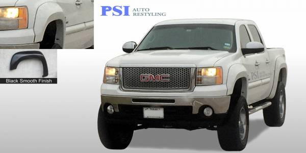 PSI - 2013 GMC Sierra 1500 Extension Style Smooth Fender Flares