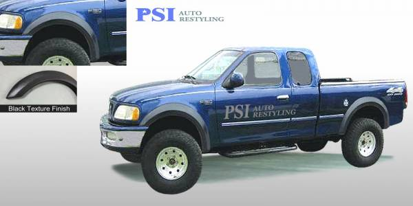 PSI - 1999 Ford F-150 Extension Style Textured Fender Flares