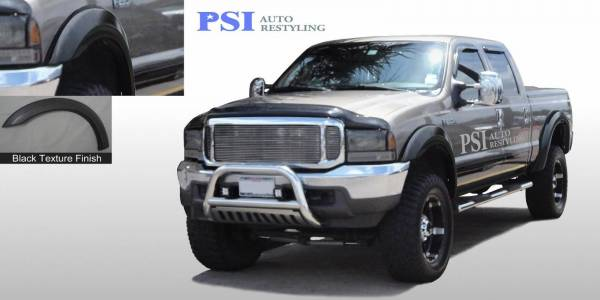 PSI - 2001 Ford F-250 Super Duty Extension Style Textured Fender Flares