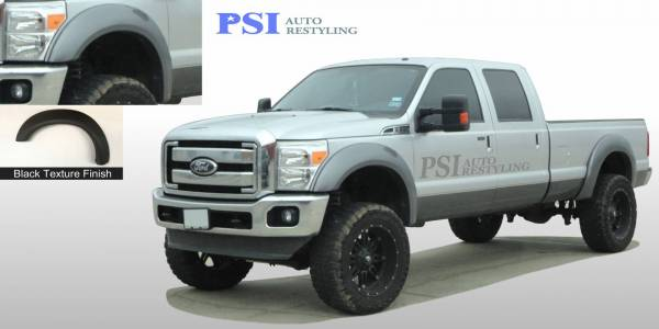PSI - 2011 Ford F-250 Super Duty Extension Style Textured Fender Flares