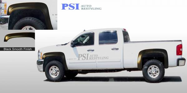 PSI - 2008 Chevrolet Silverado 1500 OEM Style Smooth Fender Flares
