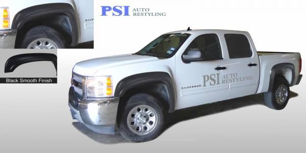 PSI - 2011 Chevrolet Silverado 1500 OEM Style Smooth Fender Flares