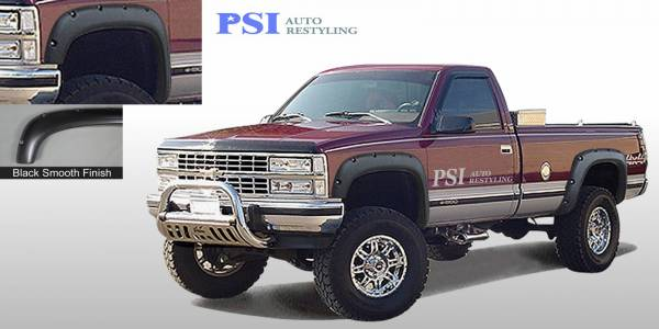 PSI - 1989 GMC C 1500 Pocket Rivet Style Smooth Fender Flares