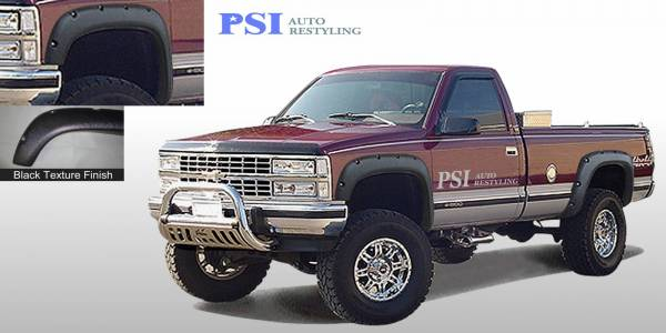 PSI - 1990 GMC K 1500 Pocket Rivet Style Textured Fender Flares
