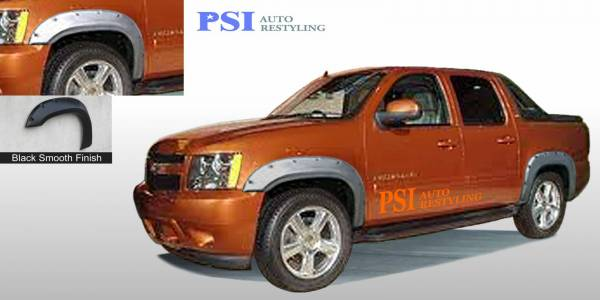 PSI - 2008 Chevrolet Avalanche Pocket Rivet Style Smooth Fender Flares