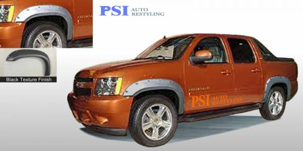 PSI - 2012 Chevrolet Avalanche Pocket Rivet Style Textured Fender Flares