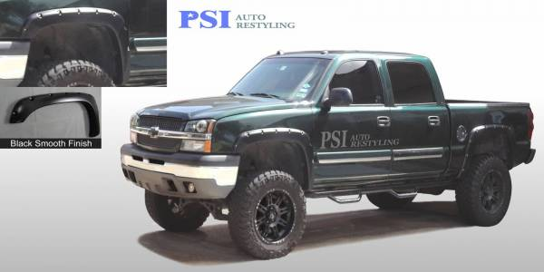 PSI - 2004 GMC Sierra 1500 Pocket Rivet Style Smooth Fender Flares