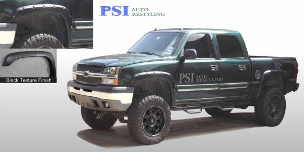PSI - 2005 GMC Sierra 2500 Pocket Rivet Style Textured Fender Flares