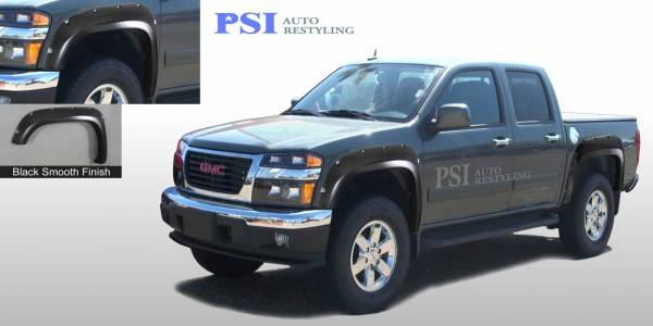 PSI - 2010 GMC Canyon Pocket Rivet Style Smooth Fender Flares