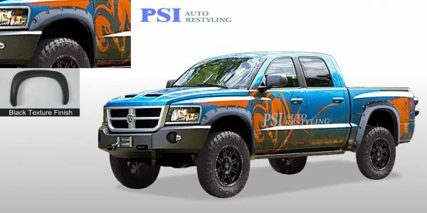 PSI - 2010 Dodge Dakota Pocket Rivet Style Textured Fender Flares