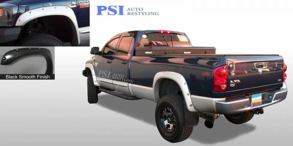 PSI - 2008 Dodge RAM 1500 Pocket Rivet Style Smooth Fender Flares
