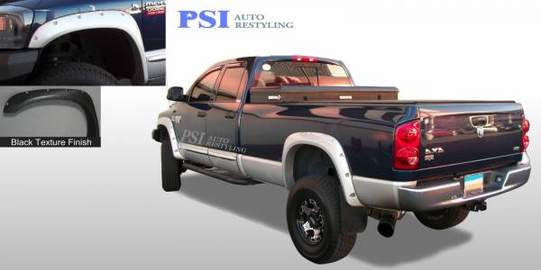 PSI - 2009 Dodge RAM 3500 Pocket Rivet Style Textured Fender Flares