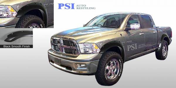 PSI - 2014 Dodge/RAM RAM 1500/1500 Pocket Rivet Style Smooth Fender Flares