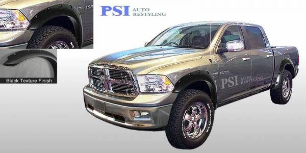 PSI - 2013 Dodge/RAM RAM 1500/1500 Pocket Rivet Style Textured Fender Flares