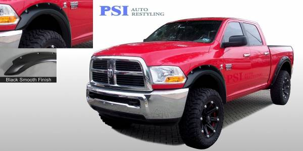 PSI - 2013 Dodge/RAM RAM 2500/ 2500 Pocket Rivet Style Smooth Fender Flares