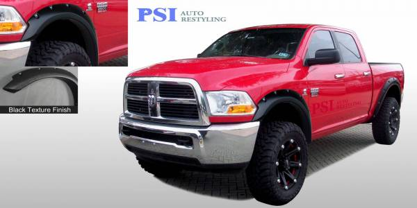 PSI - 2012 Dodge/RAM RAM 3500/ 3500 Pocket Rivet Style Textured Fender Flares