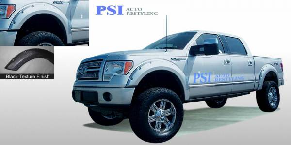 PSI - 2014 Ford F-150 Pocket Rivet Style Textured Fender Flares