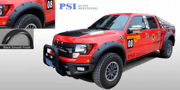 PSI - 2010 Ford F-150 RAPTOR Pocket Rivet Style Smooth Fender Flares