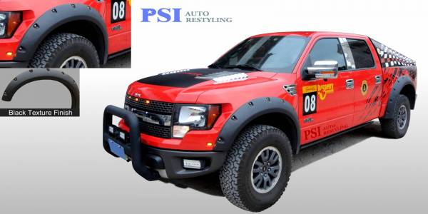 PSI - 2011 Ford F-150 RAPTOR Pocket Rivet Style Textured Fender Flares