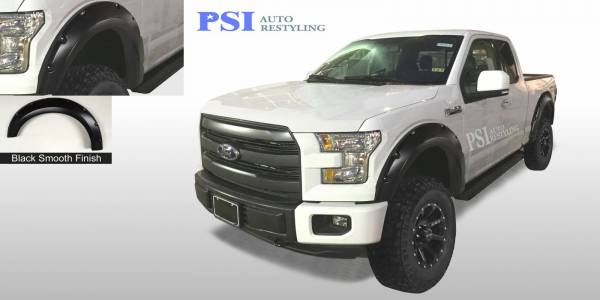 PSI - 2015 Ford F-150 Pocket Rivet Style Smooth Fender Flares