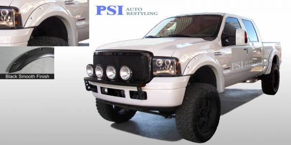 PSI - 2007 Ford F-250 Super Duty Pocket Rivet Style Smooth Fender Flares