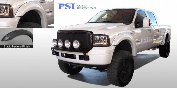 PSI - 2007 Ford F-350 Super Duty Pocket Rivet Style Textured Fender Flares