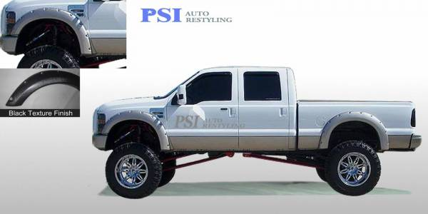 PSI - 2010 Ford F-250 Super Duty Pocket Rivet Style Textured Fender Flares