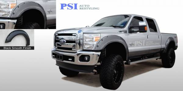 PSI - 2013 Ford F-250 Super Duty Pocket Rivet Style Smooth Fender Flares
