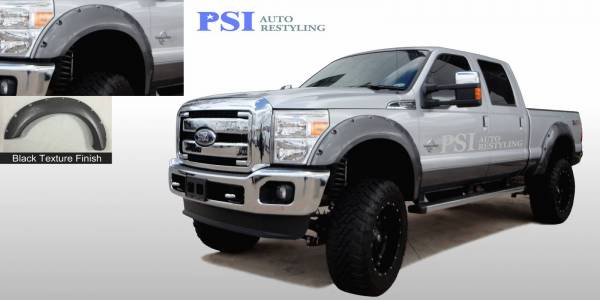 PSI - 2014 Ford F-250 Super Duty Pocket Rivet Style Textured Fender Flares