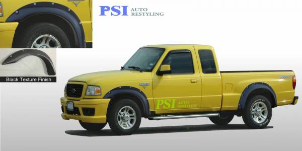 PSI - 1998 Ford Ranger Pocket Rivet Style Textured Fender Flares