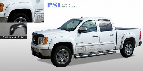 PSI - 2012 GMC Sierra 1500 Pocket Rivet Style Smooth Fender Flares