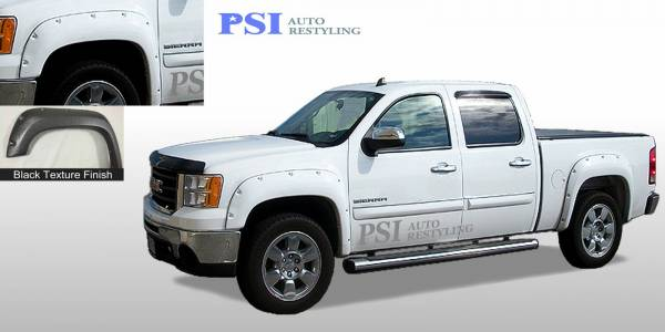 PSI - 2010 GMC Sierra 1500 Pocket Rivet Style Textured Fender Flares