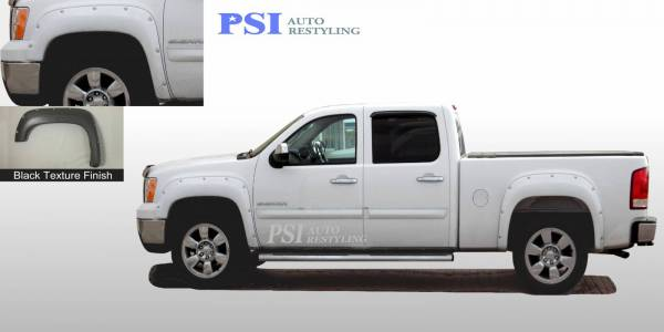 PSI - 2011 GMC Sierra 3500 Pocket Rivet Style Textured Fender Flares