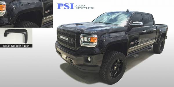 PSI - 2015 GMC Sierra 1500 Pocket Rivet Style Smooth Fender Flares