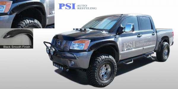 PSI - 2013 Nissan Titan Pocket Rivet Style Smooth Fender Flares