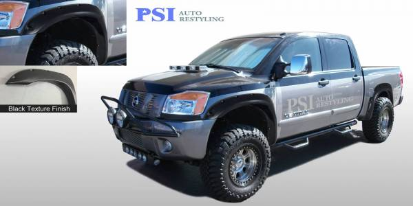 PSI - 2014 Nissan Titan Pocket Rivet Style Textured Fender Flares