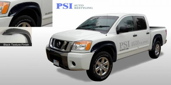 PSI - 2013 Nissan Titan Pocket Rivet Style Textured Fender Flares