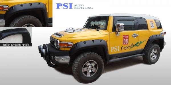 PSI - 2013 Toyota FJ Cruiser Pocket Rivet Style Smooth Fender Flares