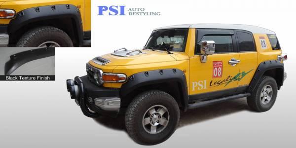 PSI - 2010 Toyota FJ Cruiser Pocket Rivet Style Textured Fender Flares