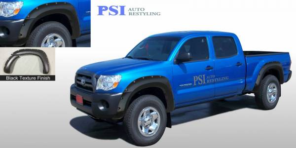 PSI - 2007 Toyota Tacoma Pocket Rivet Style Textured Fender Flares