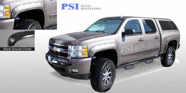 PSI - 2011 Chevrolet Silverado 1500 Pocket Rivet Style Smooth Fender Flares