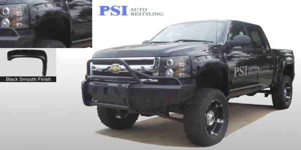 PSI - 2008 Chevrolet Silverado 1500 Pocket Rivet Style Smooth Fender Flares