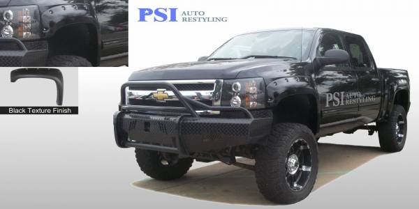 PSI - 2007 Chevrolet Silverado 1500 Pocket Rivet Style Textured Fender Flares