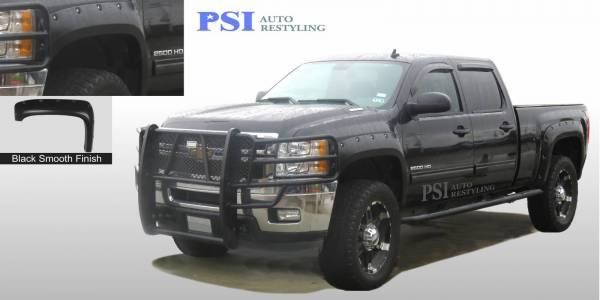 PSI - 2009 Chevrolet Silverado 1500 Pocket Rivet Style Smooth Fender Flares