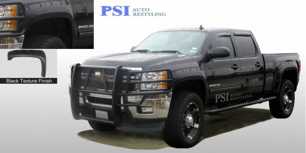 PSI - 2011 Chevrolet Silverado 1500 Pocket Rivet Style Textured Fender Flares