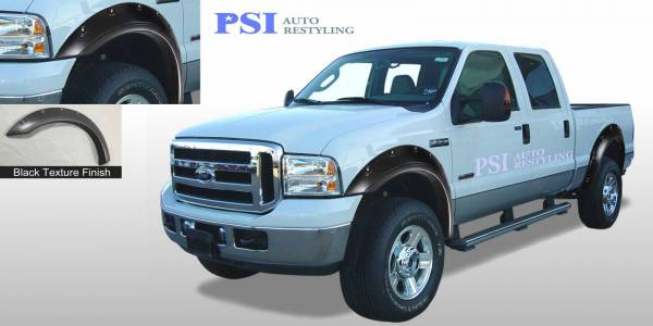 PSI - 2005 Ford F-250 Super Duty Pop-Out Style Textured Fender Flares